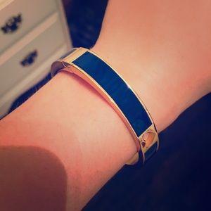 Blue and gold Kate Spade bangle bracelet